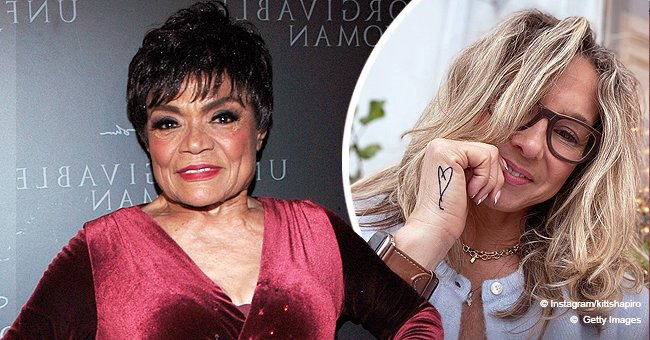 Eartha Kitt's Only Daughter Flaunts New Hand Tattoo with Her Hair Falling on Her Shoulders