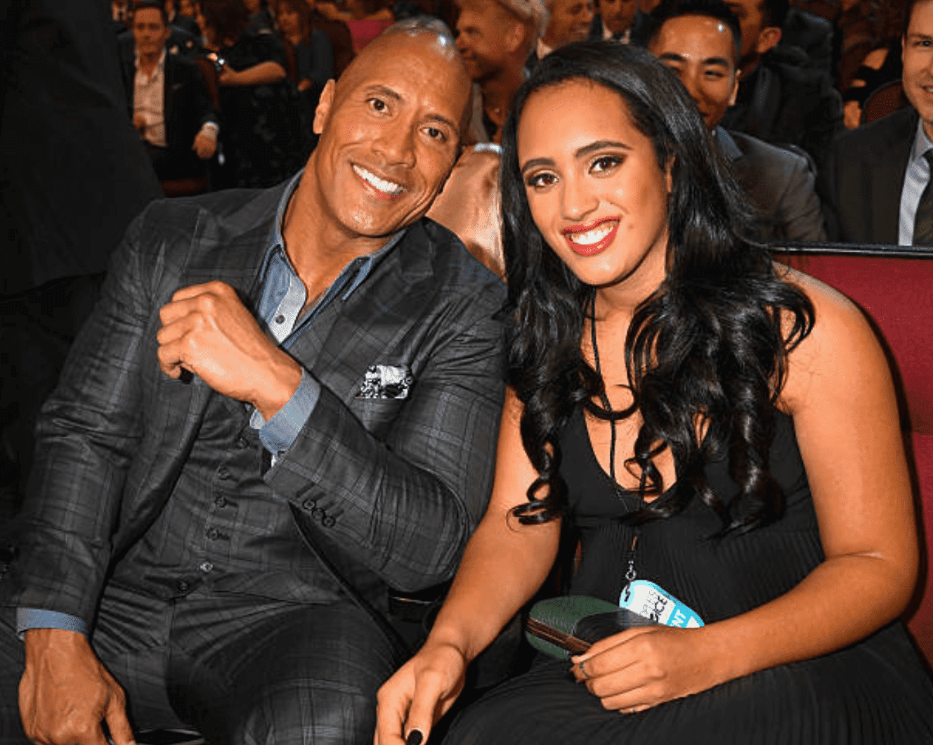 Dwayne Johnson attends the 2017 Peoples Choice Awards with daughter, Simone |Getty Images