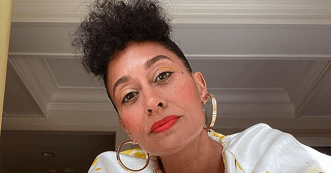Tracee Ellis Ross from 'Black-ish' Flaunts Legs in Black Tights & Red High-Heeled Boots in New Photos