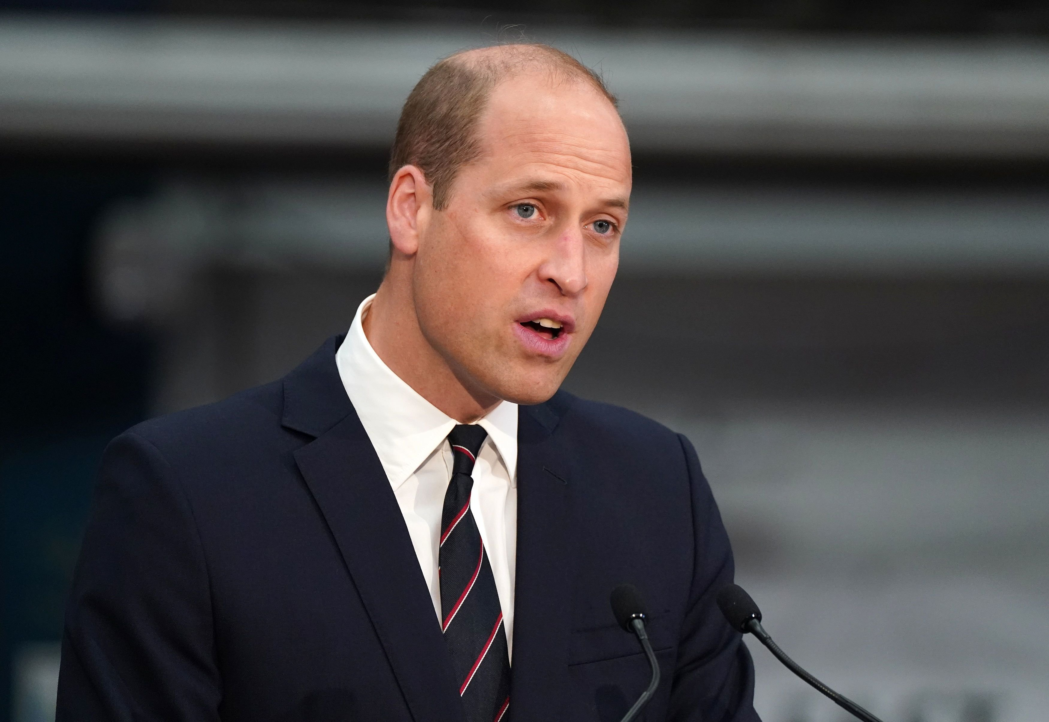 Prince William, the Earl of Strathearn visitsthe BAE Systems shipyard to observe the construction of HMS Glasgow on June 29, 2021, in Glasgow, Scotland   Photo:Andrew Milligan - WPA Pool/Getty Images