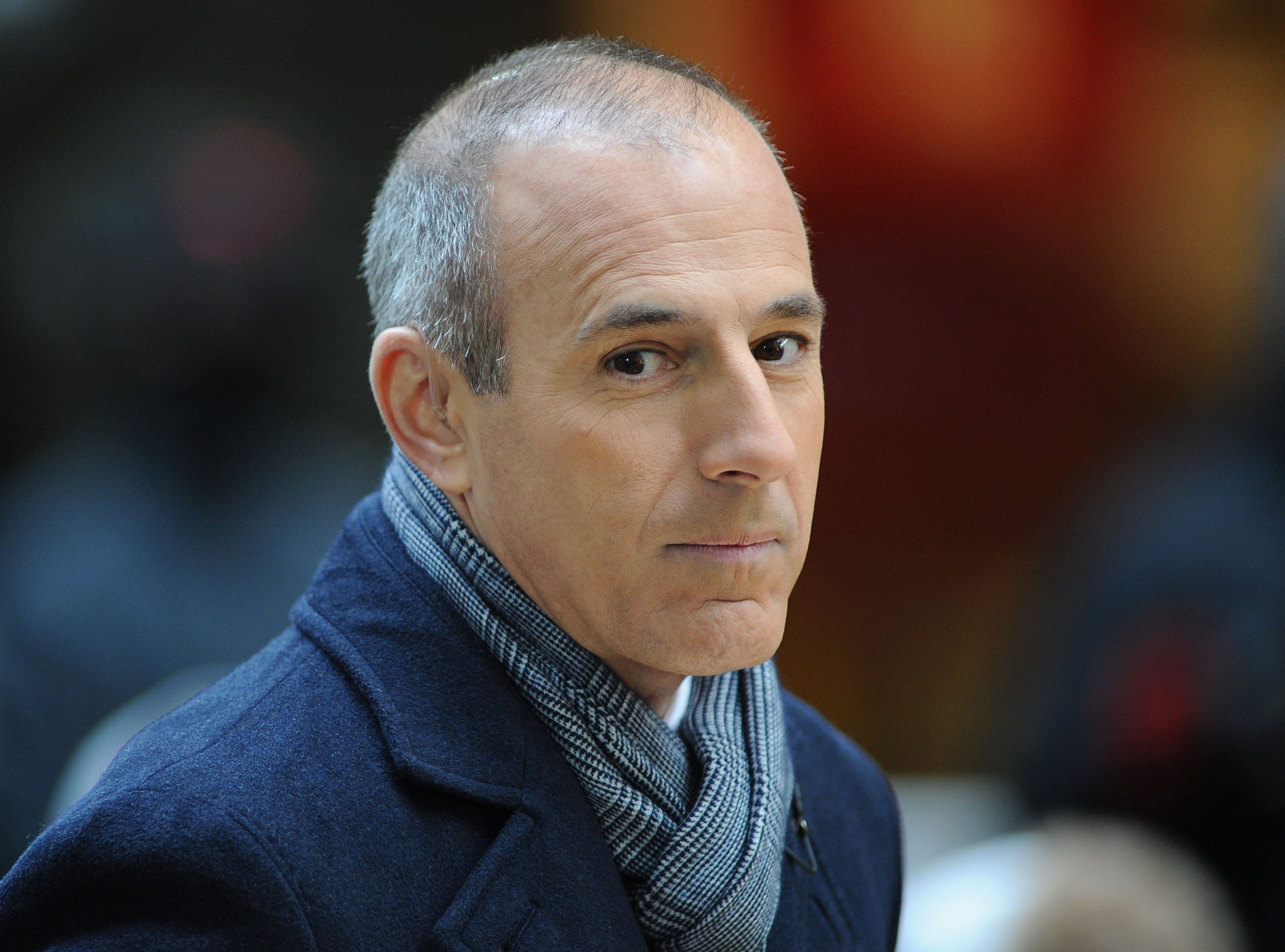 "Matt Lauer attends NBC's ""Today"" at Rockefeller Plaza on November 20, 2012, in New York City. 