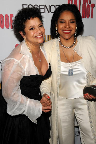 """Debbie Allen & Phylicia Rashad at the after party for the opening of """"Cat On A Hot Tin Roof"""" Strata on Mar. 6, 2008 in New York City 