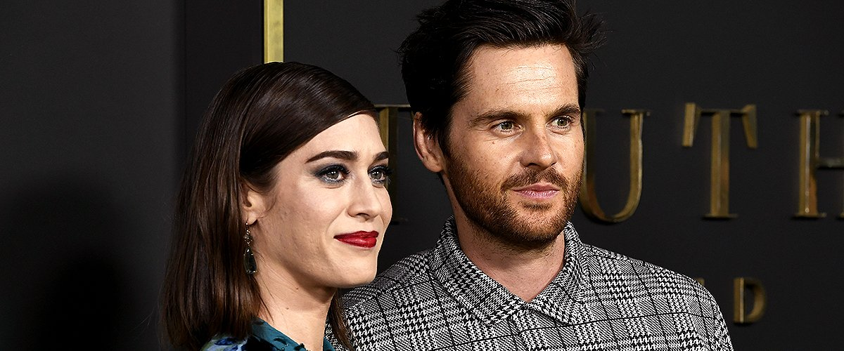 "Lizzy Caplan and Tom Riley attend the Premiere Of Apple TV+'s ""Truth Be Told"" at AMPAS Samuel Goldwyn Theater on November 11, 2019 