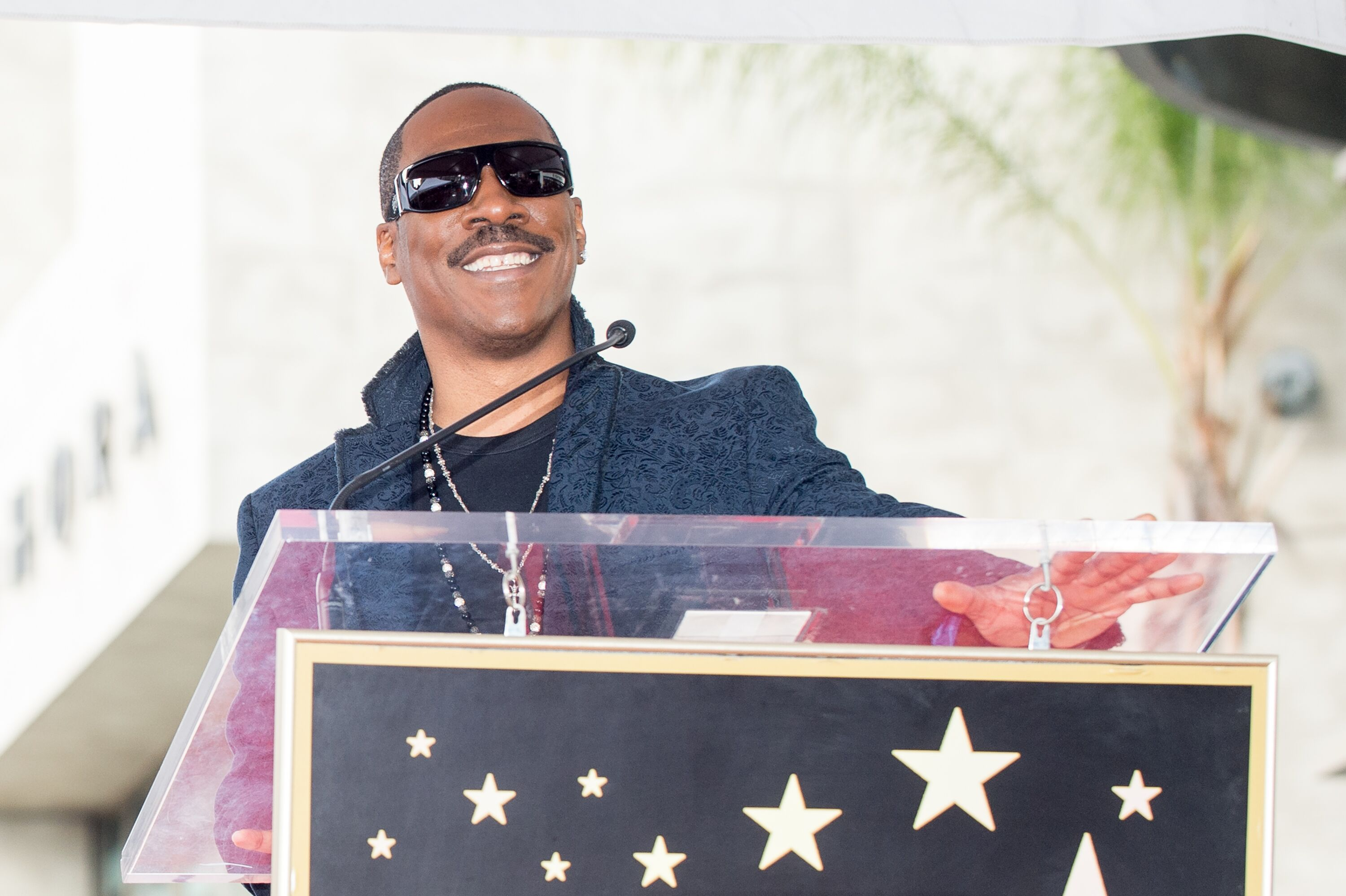 Eddie Murphy attends 'Brett Ratner honored with star on the on the Hollywood Walk of Fame.' | Source: Getty Images