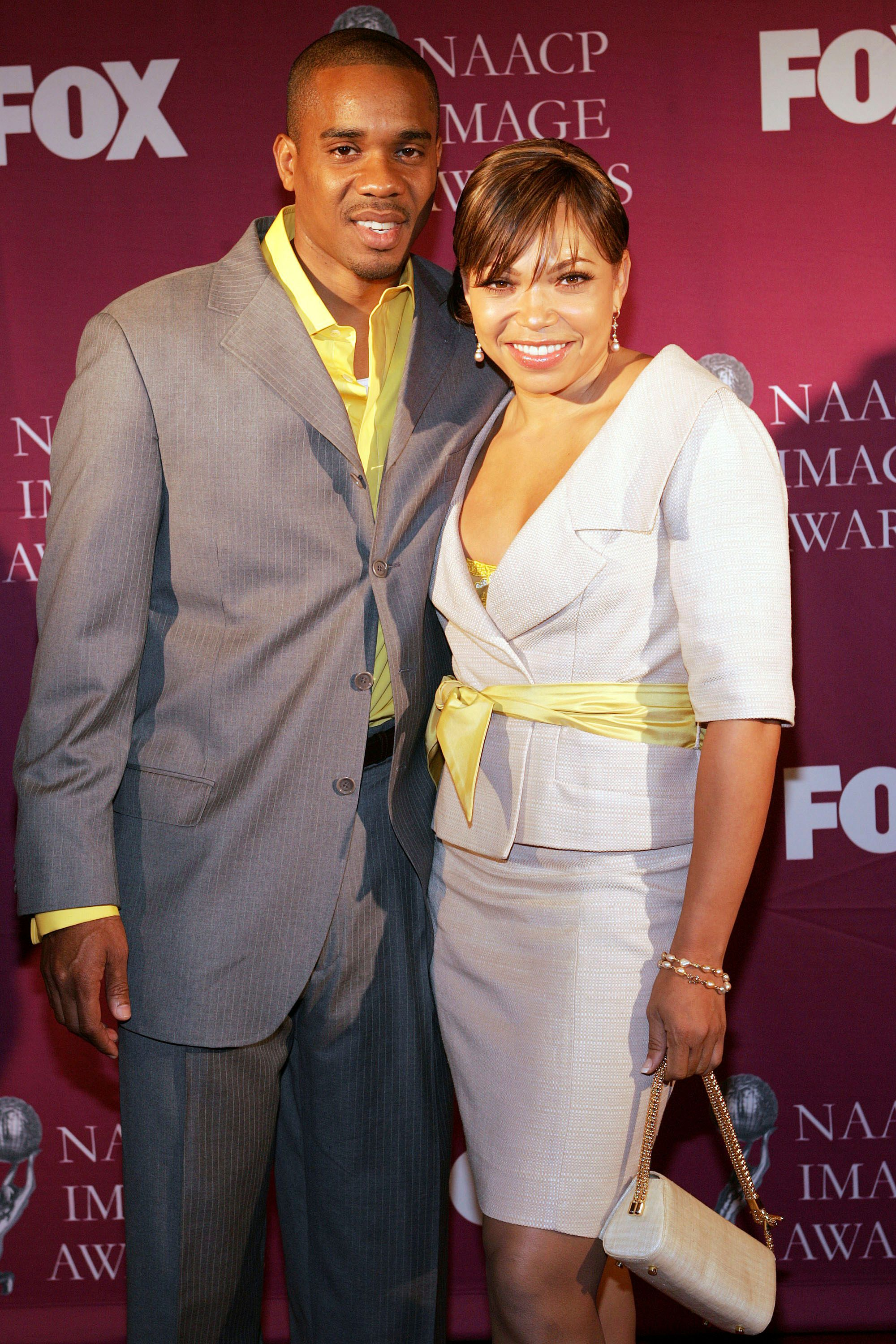 Actor/Co-host Duane Martin and actress/Co-host Tisha Campbell Martin at the 36th Annual NAACP Image Awards Luncheon at the Beverly Hilton Hotel on March 5, 2005   Photo: Getty Images