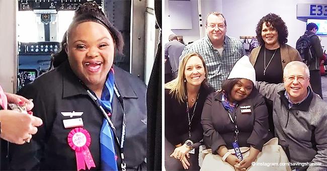 Une compagnie aérienne embauche sa première hôtesse de l'air atteinte du syndrome de Down et elle ne pourrait être plus heureuse