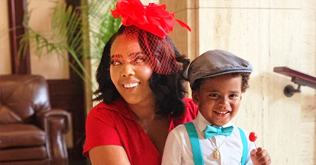 Angela Simmons & Son Sutton Flash Big Smiles as They Go to the Derby