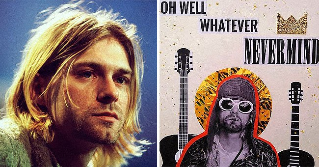 Pictured: The late lead vocalist of the Nirvana rock music band Kurt Cobain | Source: Getty Images and Instagram/@