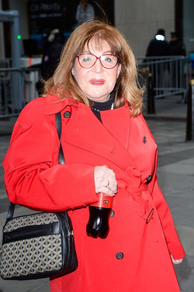 "Sally Jessy Raphael leaves the ""Today Show"" taping at the NBC Rockefeller Center Studios on February 13, 2017 