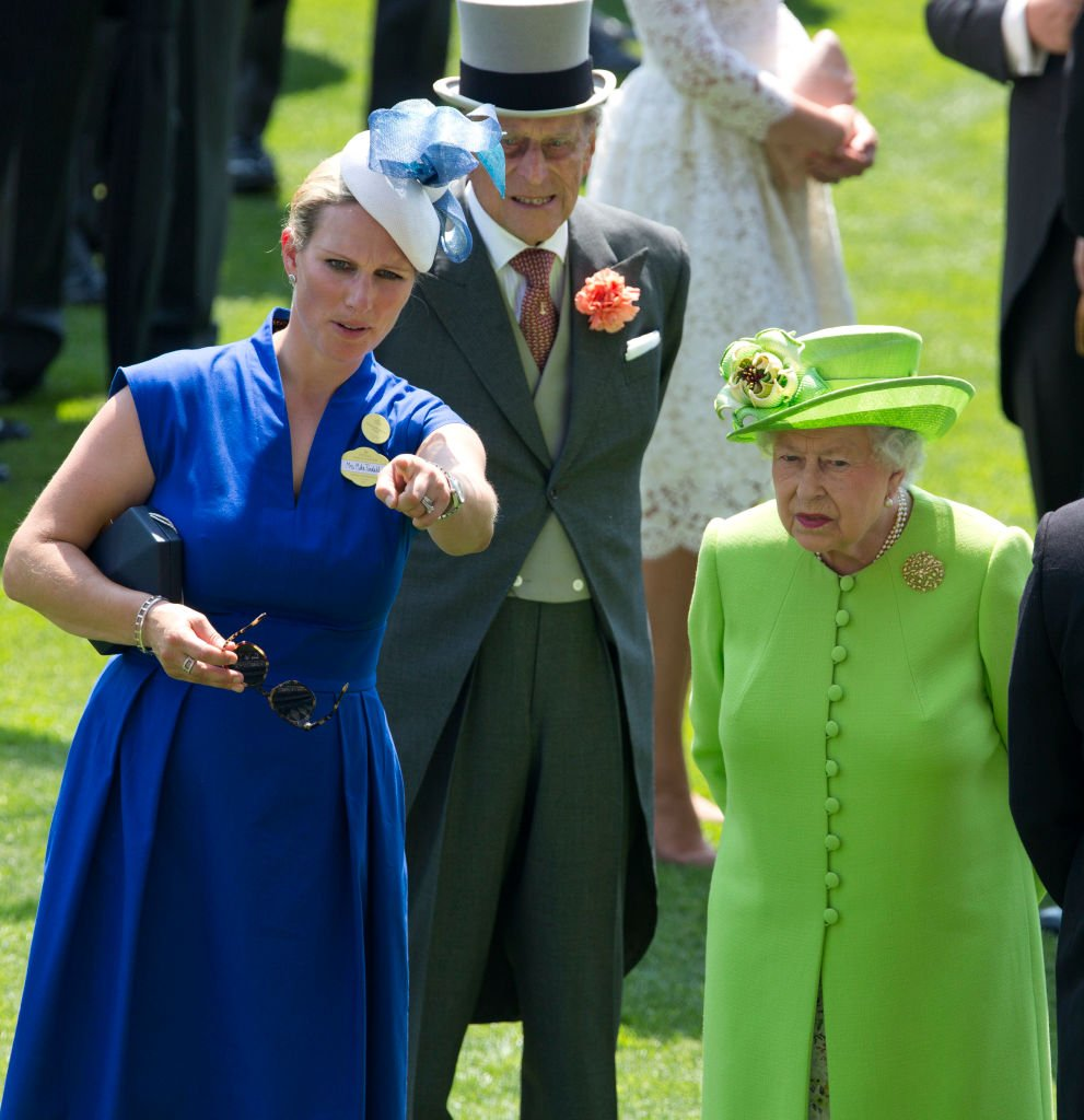 Zara Tindall, Prince Philip, and Queen Elizabeth II, at the first day of Royal Ascot 2017 at Ascot Racecourse on June 20, 2017 | Photo: Getty Images