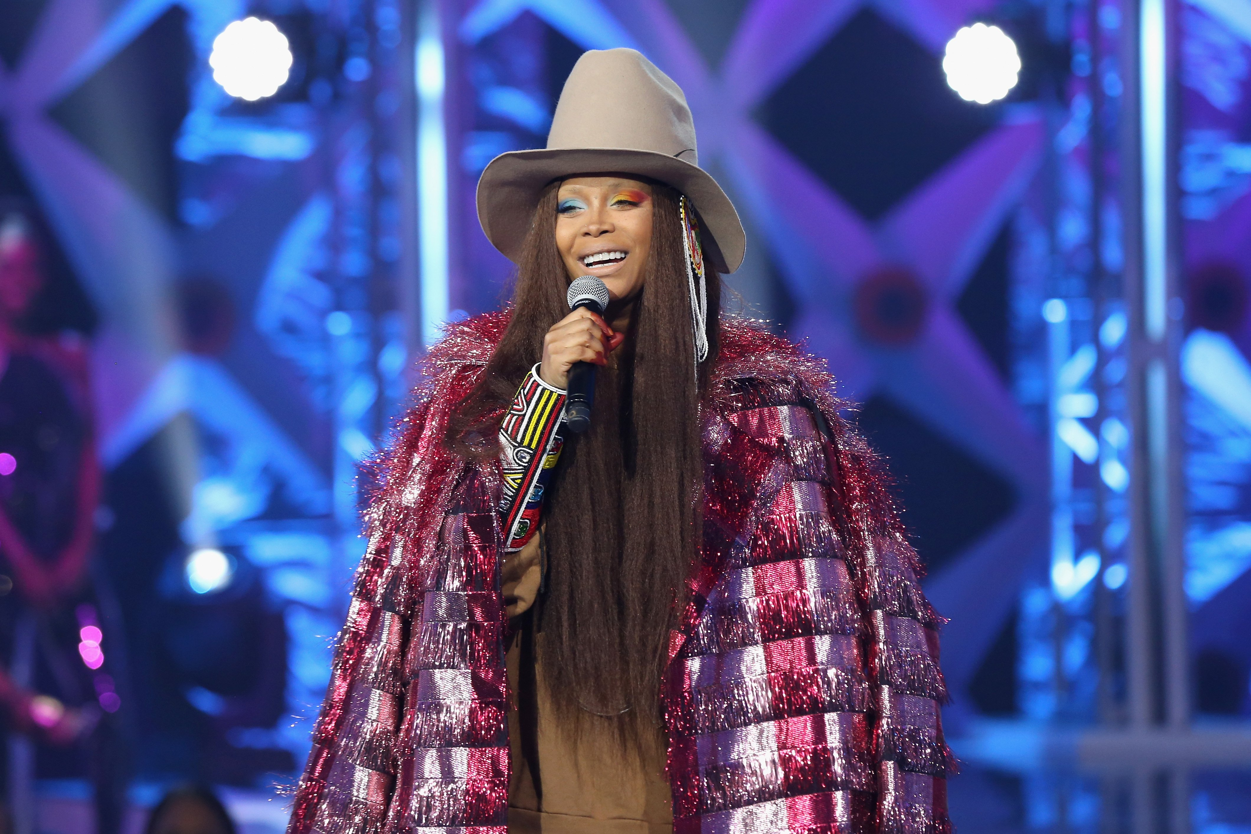 Erykah Badu at BET's Social Awards 2018 on February 11, 2018 in Atlanta, Georgia | Source: Getty Images
