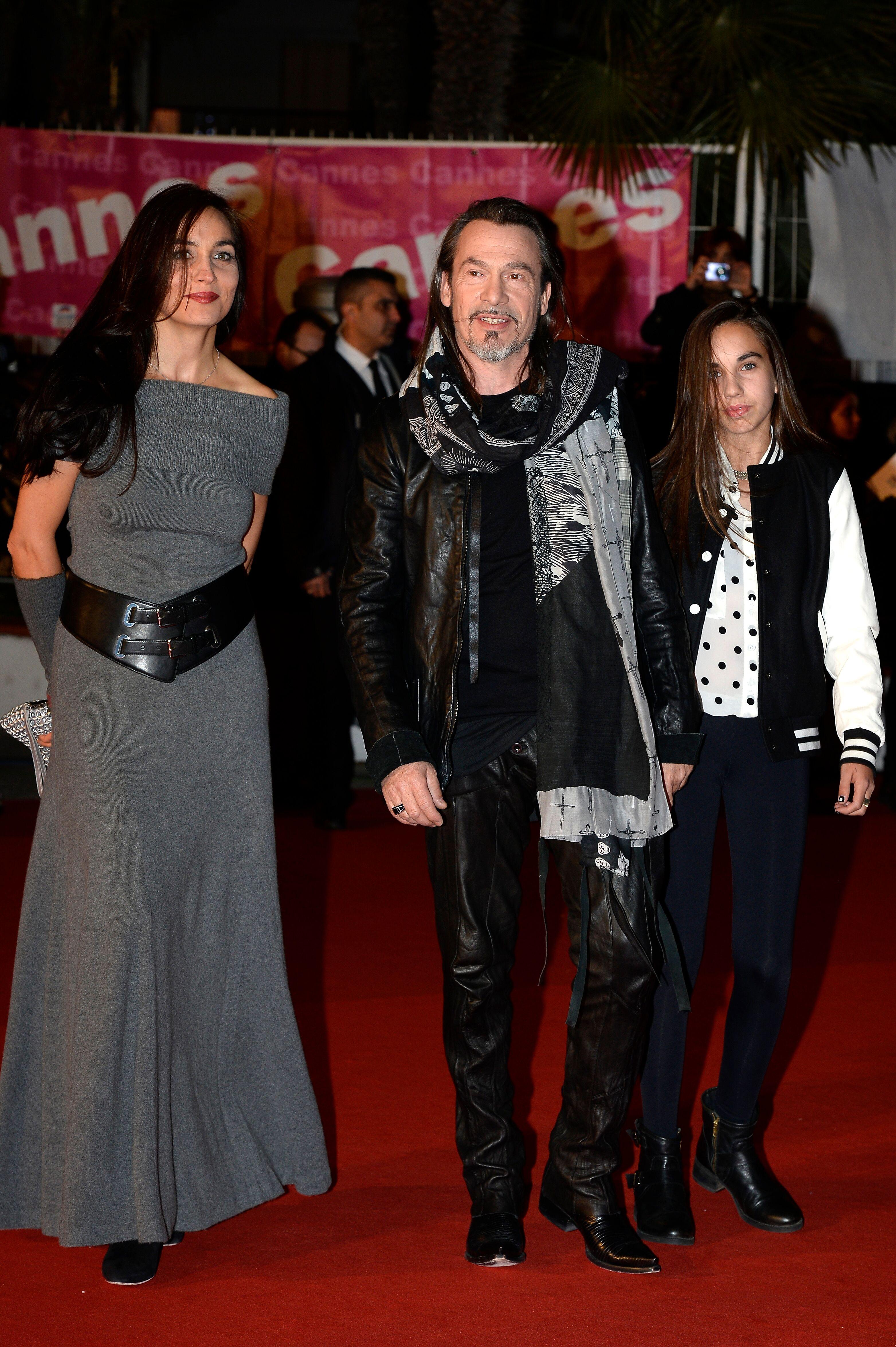 Florent Pagny, sa compagne Azucena et leur fille Aël. l Source : Getty Images