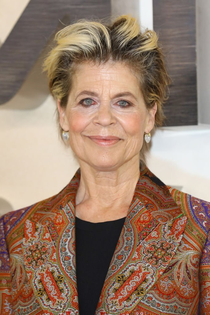 "Linda Hamilton attends the ""Terminator: Dark Fate"" photocall in London, England.