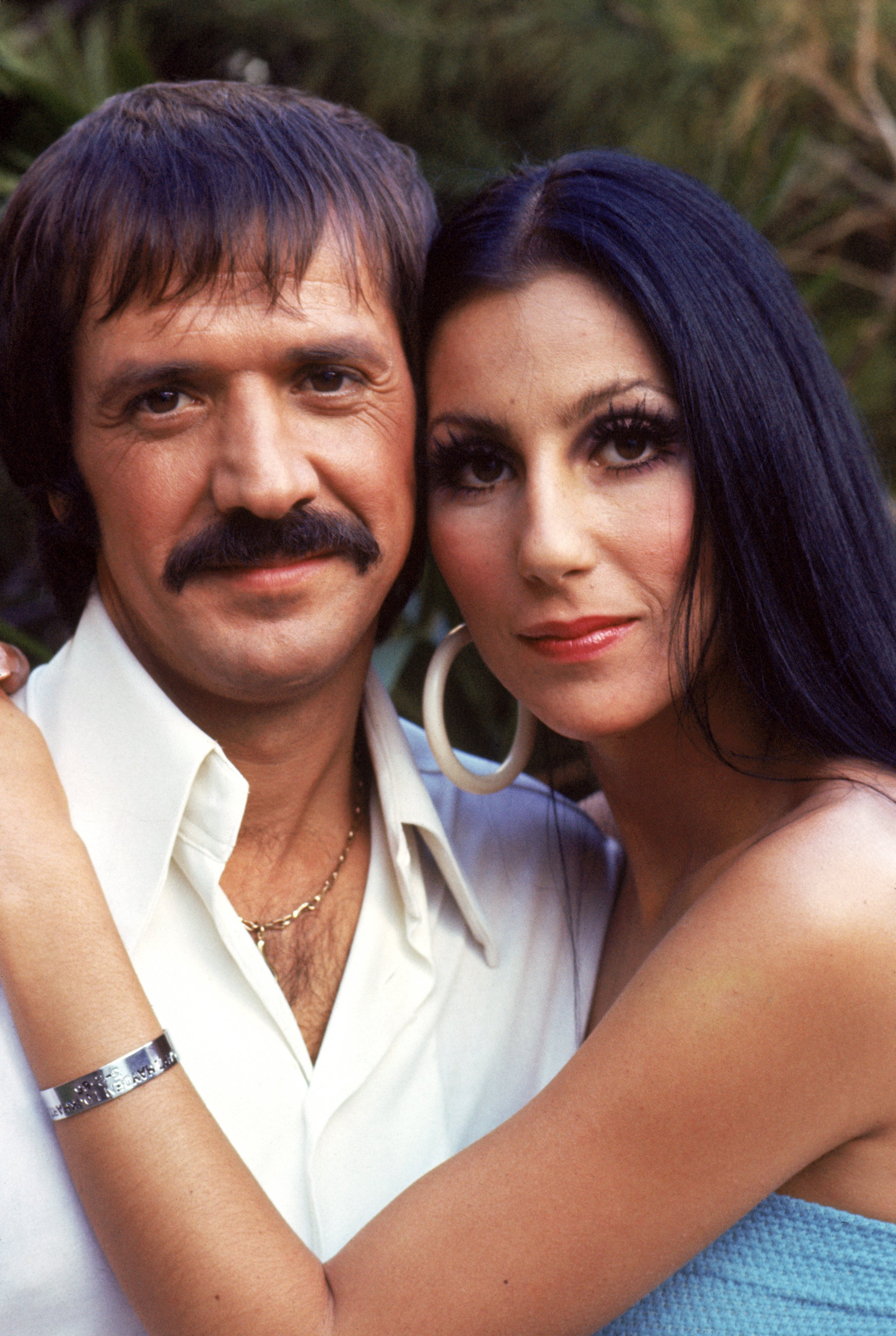 "Cher and Sonny Bono pose for a promotional photo for ""The Sonny and Cher Show"" in 1970. 