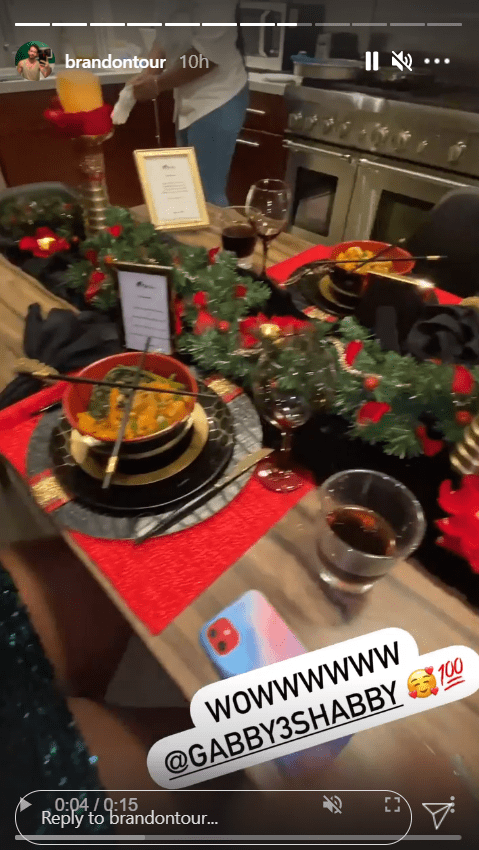 A picture of the dishes made to celebrate Brandon Frankel's birthday on Instagram story | Photo: Instagram/brandontour