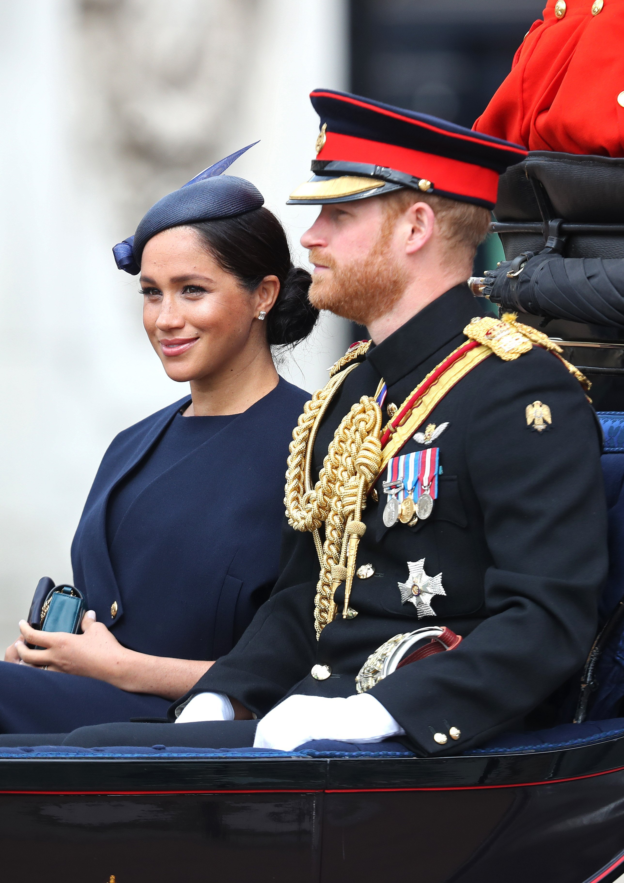 Meghan Markle and Prince Harry attend Trooping the Color in June 2019 | Photo: Getty Images