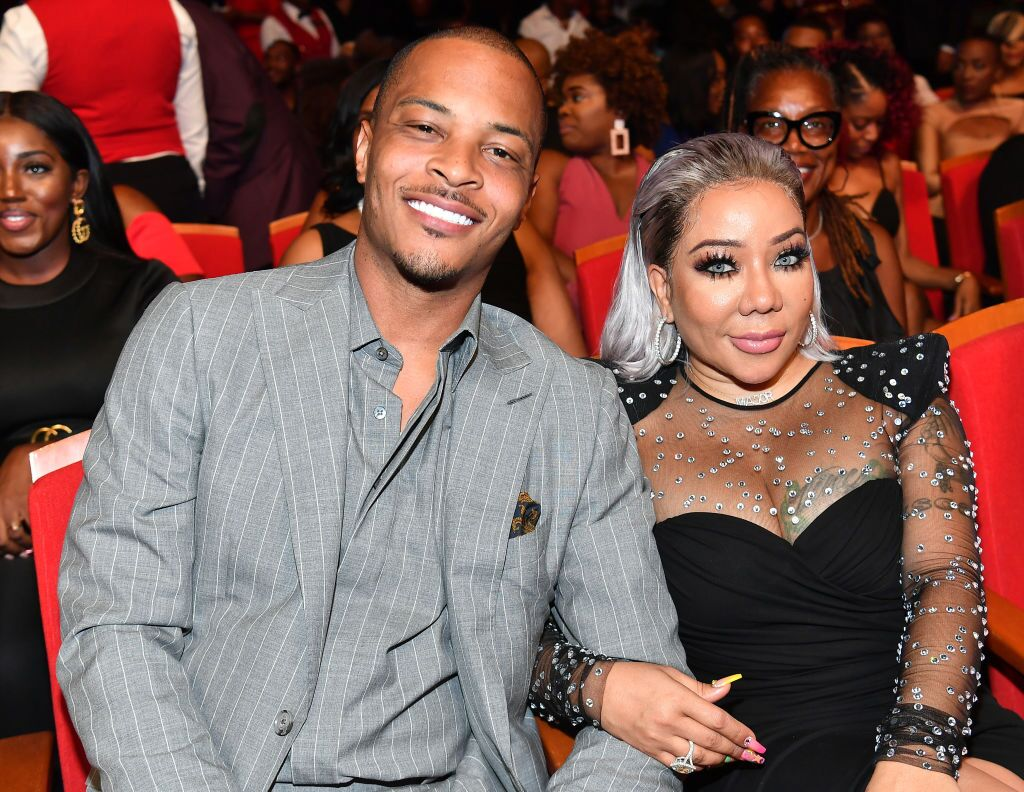 "T.I. and Tameka ""Tiny"" Harris attend 2019 Black Music Honors at Cobb Energy Performing Arts Centre on September 05, 2019. 