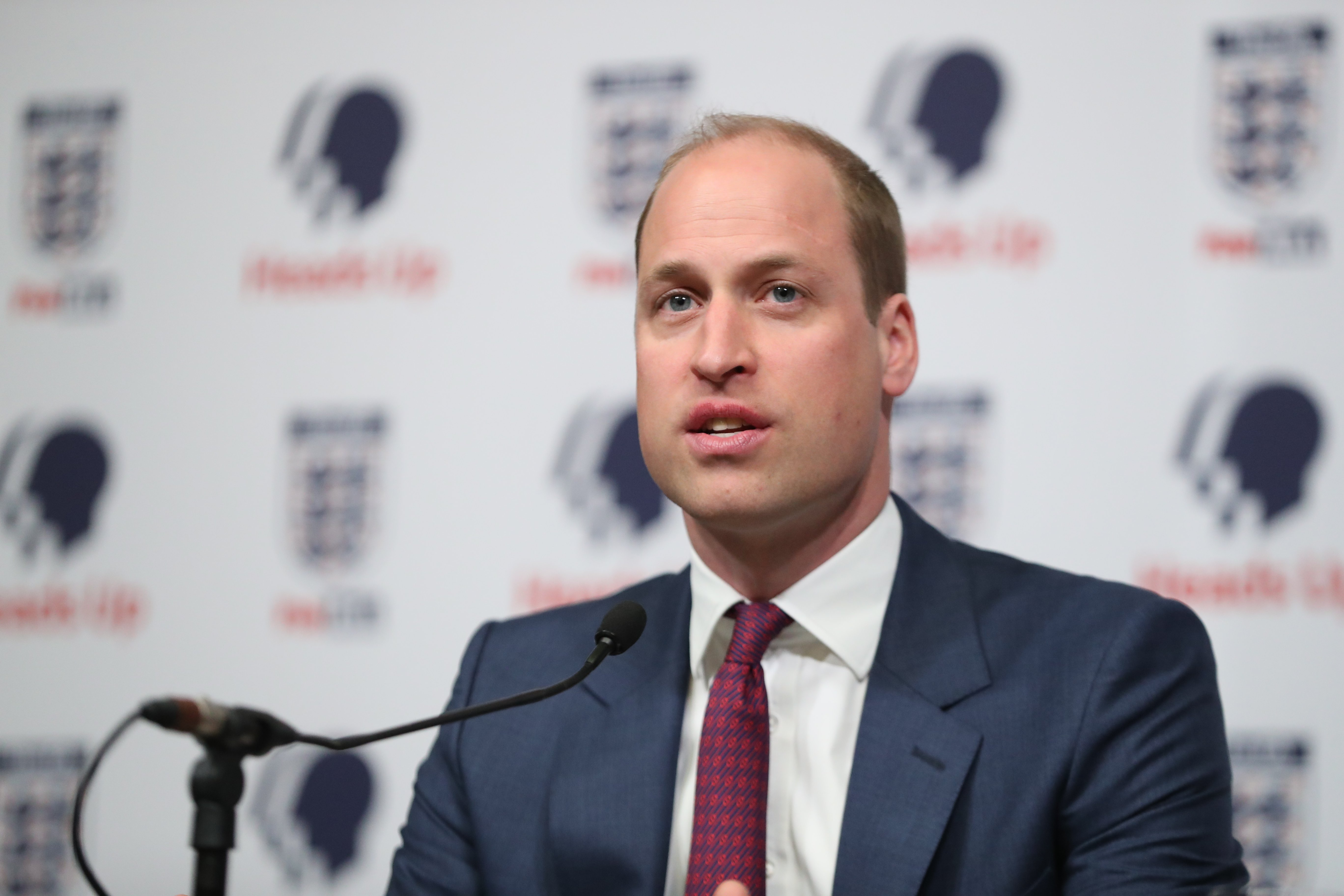 Prince William at the launch of a new mental health campaign at Wembley Stadium | Photo: Getty Images