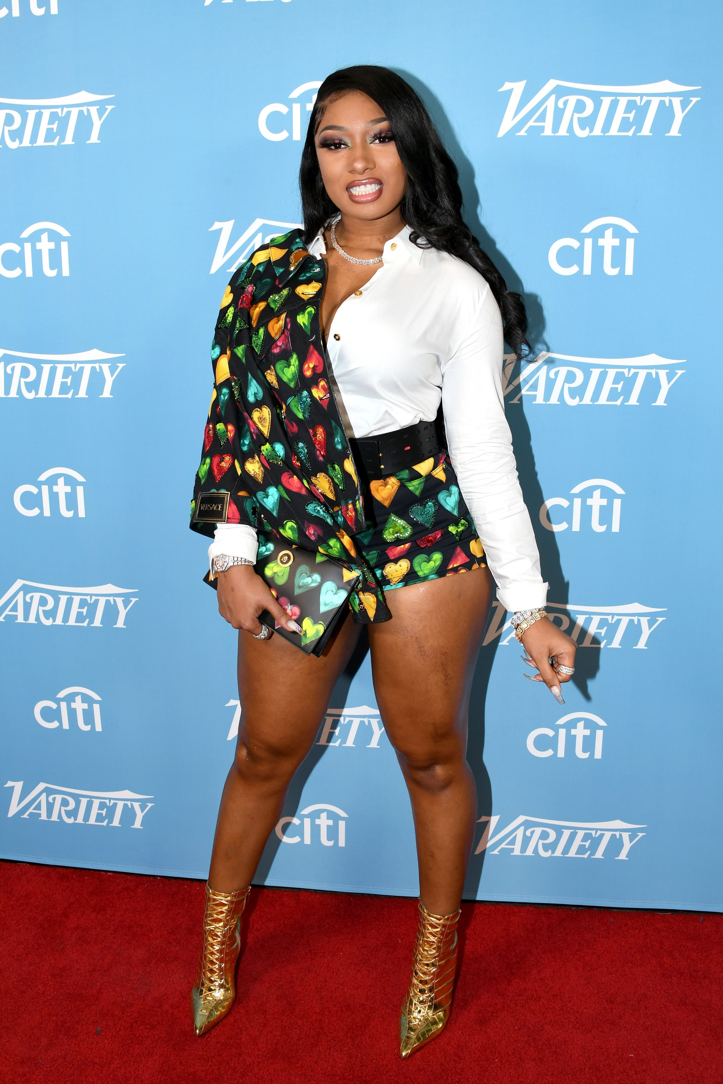 Megan Thee Stallion arrives on the red carpet for Variety's Hitmakers Brunch at Soho House on December 07, 2019 | Photo: Getty Images