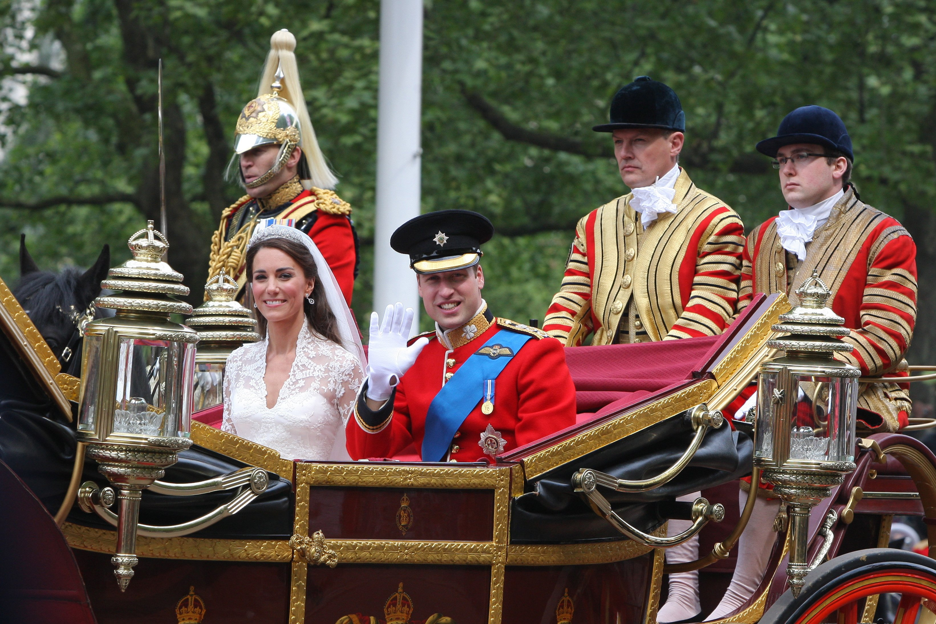 Boda real del príncipe William y Catherine Middleton, el 29 de abril de 2011 en la abadía de Westminster en Londres, Inglaterra. | Foto: Getty Images