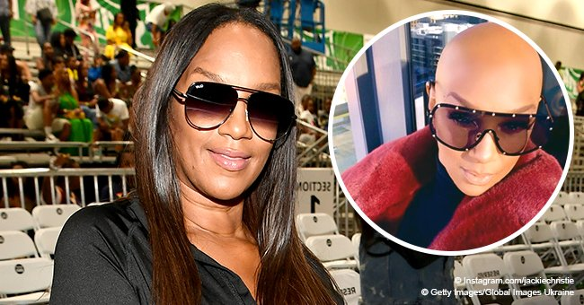 'Basketball Wives' star Jackie Christie stuns fans after debuting completely bald head