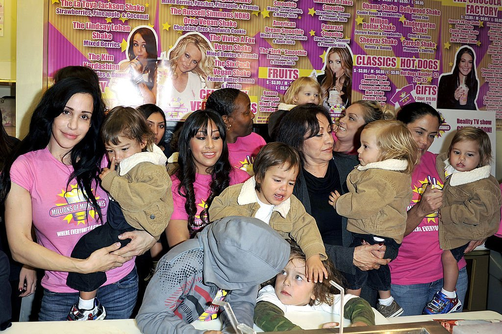 "Octomum Nadya Suleman and her large family plus helpers launch their signature Milkshake at ""Millions of Milkshakes"" 