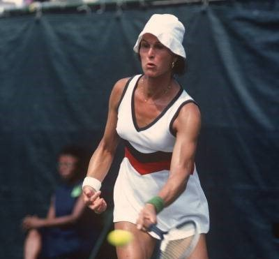 Renee Richards during the Women's 1977 US Open Tennis Championships circa 1977   Photo: Getty Images