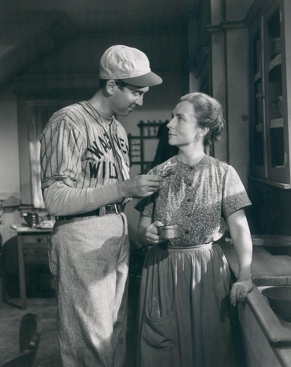 "Jimmy Stewart and Agnes Moorehead in the 1949 film ""The Stratton Story"" 