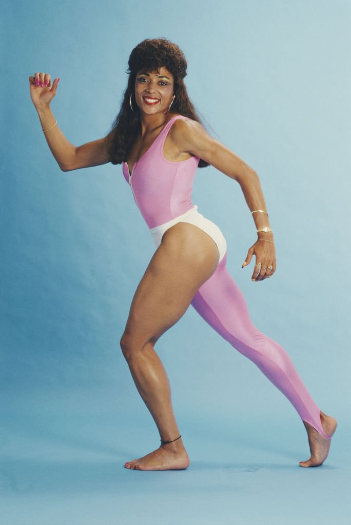Florence Griffith-Joyner posed for a portrait on April 5, 1988 in Los Angeles, California.   Photo: Getty Images