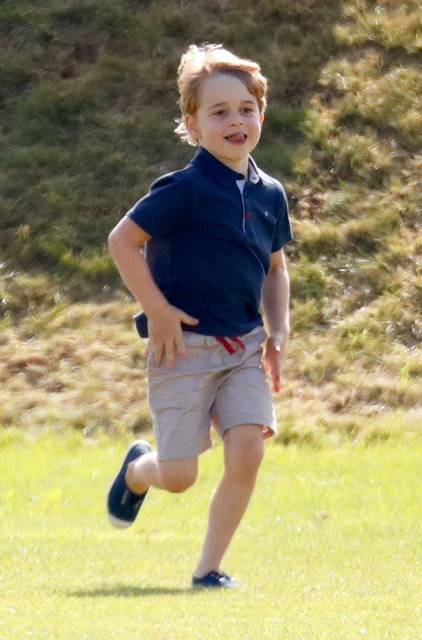 Prince George at the Beaufort Polo Club on June 10, 2018 in Gloucester, England.   Photo: Getty Images