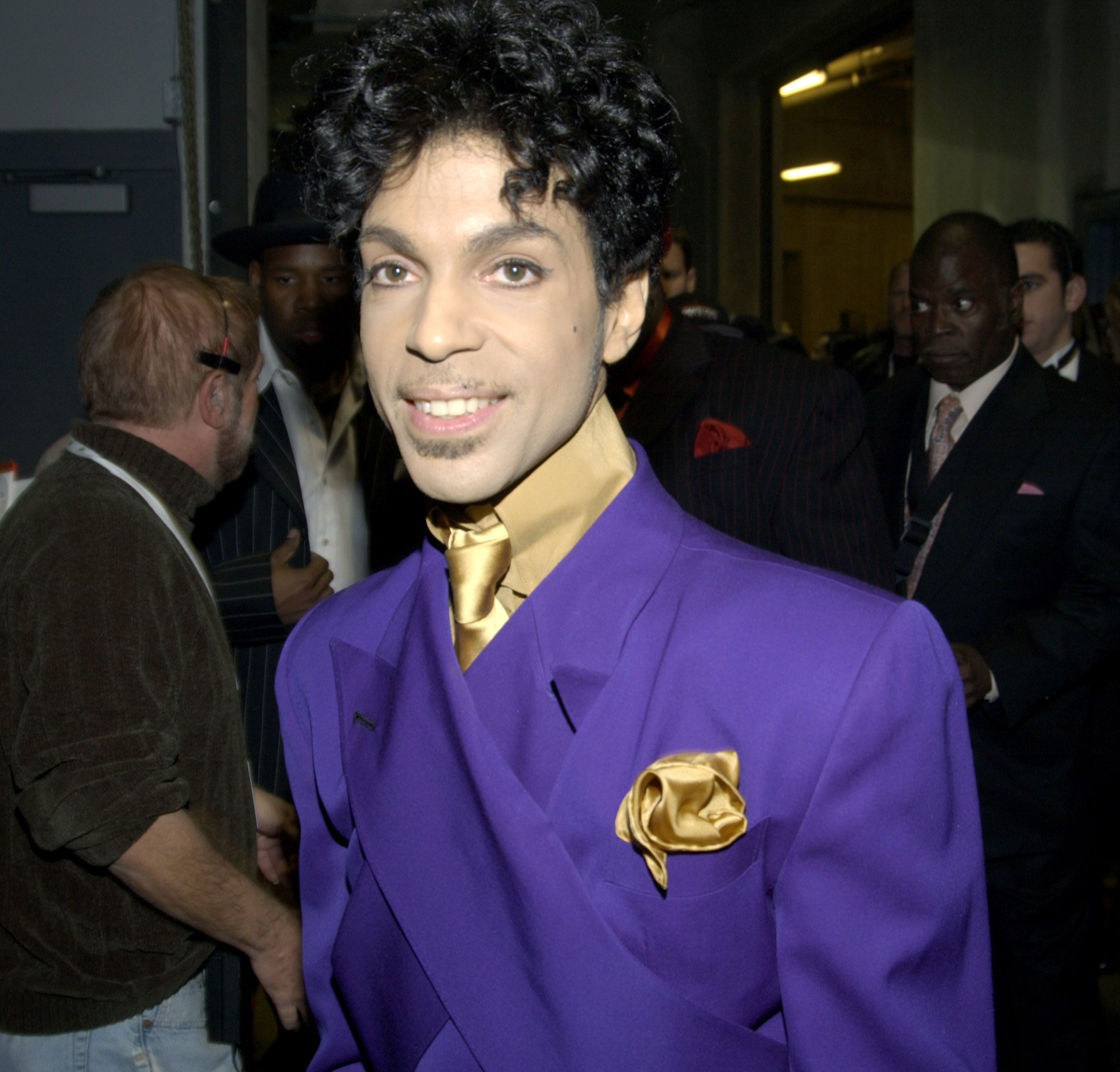 Prince at The 46th Annual GRAMMY Awards - Backstage | Photo: Getty Images