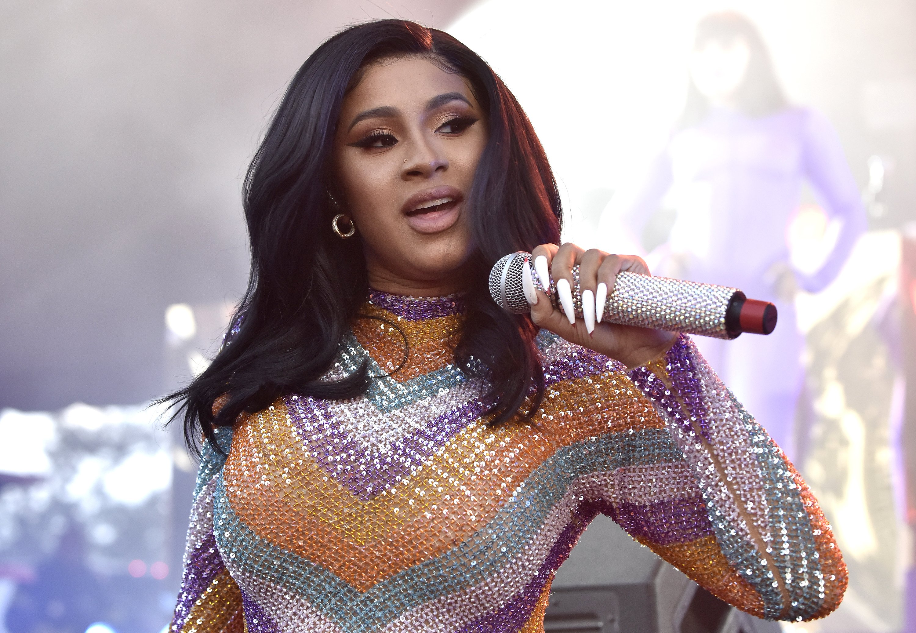 Cardi B performs at the 2019 Bonnaroo Music & Arts Festival on June 16, 2019 in Manchester, Tennessee.|Source: Getty Images