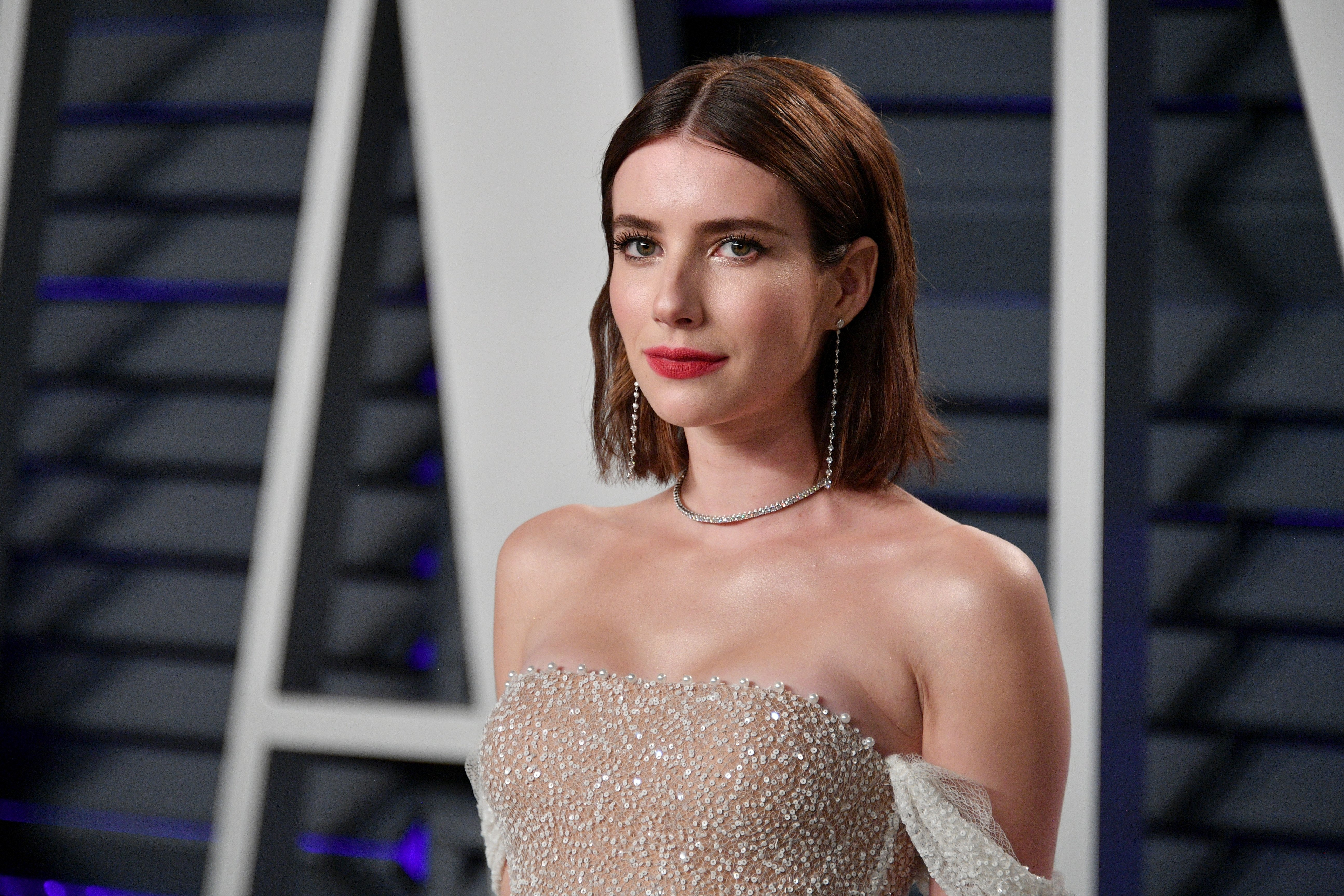 Emma Roberts attends the 2019 Vanity Fair Oscar Party on February 24, 2019, in Beverly Hills, California. | Source: Getty Images.