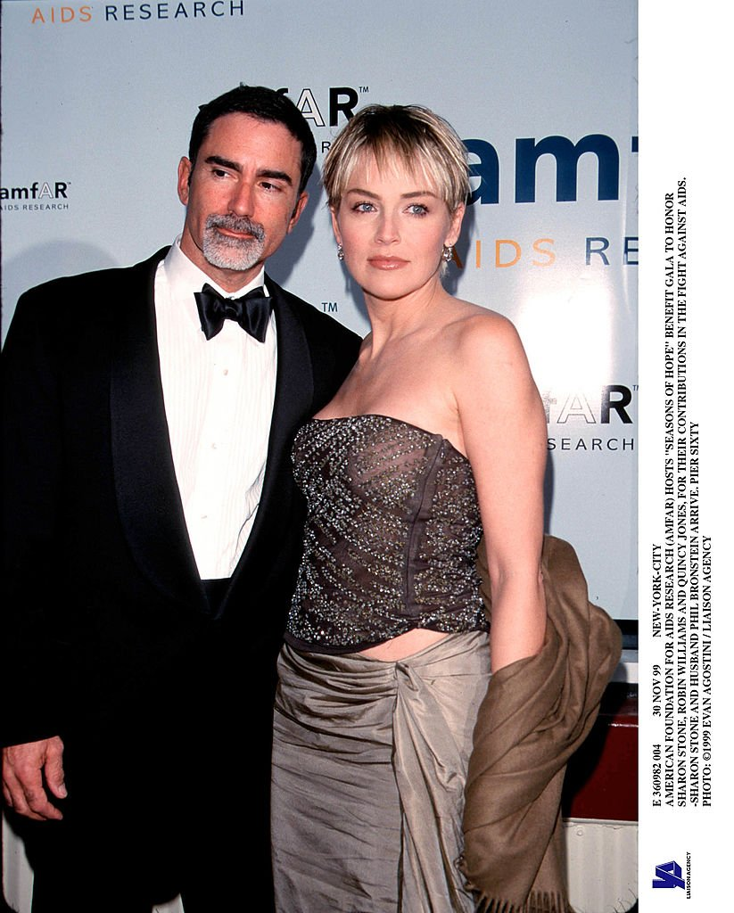 Phil Bronstein and Sharon Stone, 1999. Image Credit: Getty Images