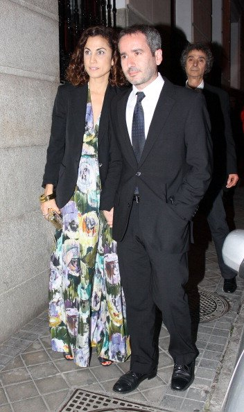 Toni Acosta y Jacobo Martos asisten a un concierto de Rafael el 21 de mayo de 2012 en Madrid, España.