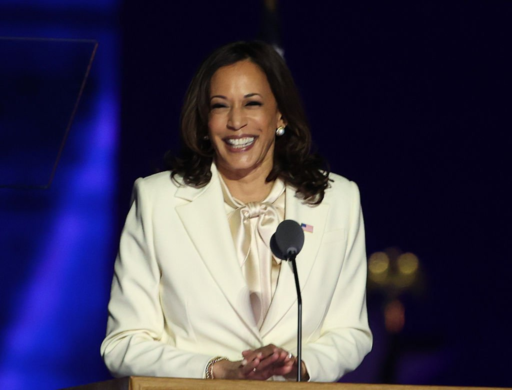La vicepresidenta electa Kamala Harris en el Chase Center, el 7 de noviembre de 2020 en Wilmington, Delaware. | Foto: Getty Images