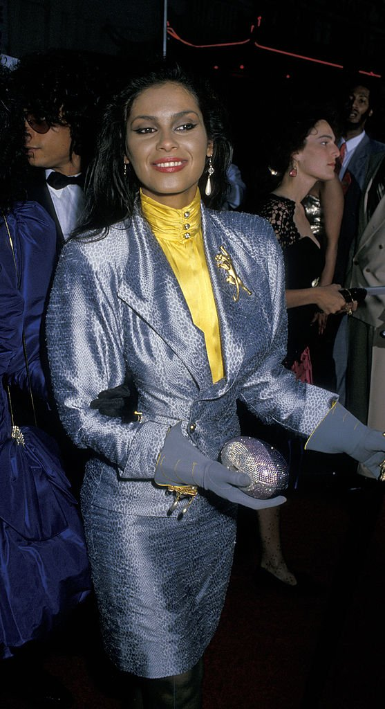 """Vanity at the premiere of """"Coming To America"""" on June 26, 1988 at Mann Chinese Theater in Hollywood, California 