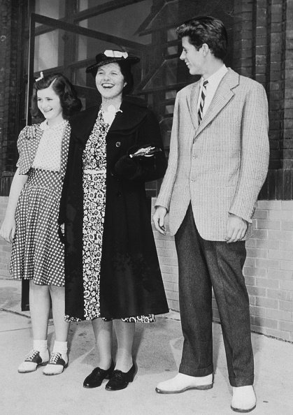 Rosemary Kennedy with her sister Jean, and brother John, circa 1940.   Photo: Getty Images