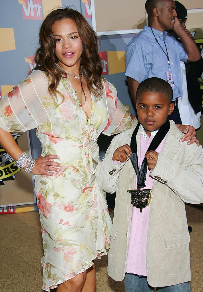 Faith Evans with her son, CJ Wallace whom she shares with The Notorious B.I.G attending the Second Annual VH1 Hip Hop Honors in September 2005. | Photo: Getty Images