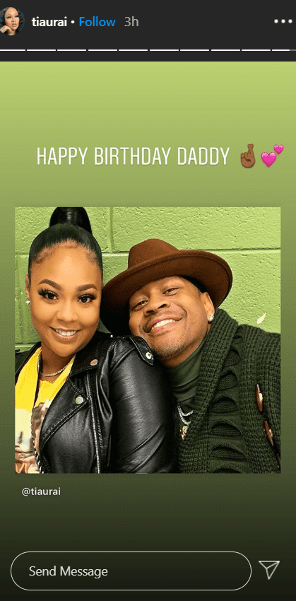 Allen Iverson and his daughter Tiaura Iverson pose for a photo | Source: Instagram.com/tiaura
