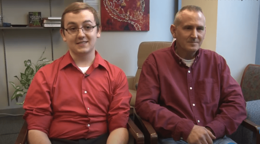Tyler and Patrick Skluzacek during an interview.   Photo: YouTube/USA TODAY