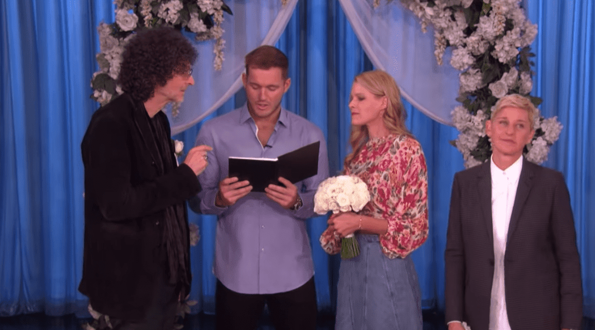 Beth and Howard Stern Have a Surprise 'Bachelor' Wedding at the Ellen Show. | Source: YouTube/TheEllenShow