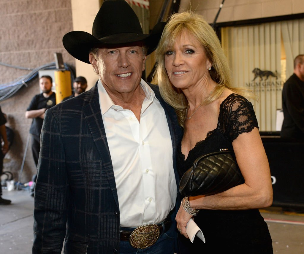George Strait and Norma Voss attend the 49th Annual Academy of Country Music Awards at the MGM Grand Garden Arena. | Getty Images