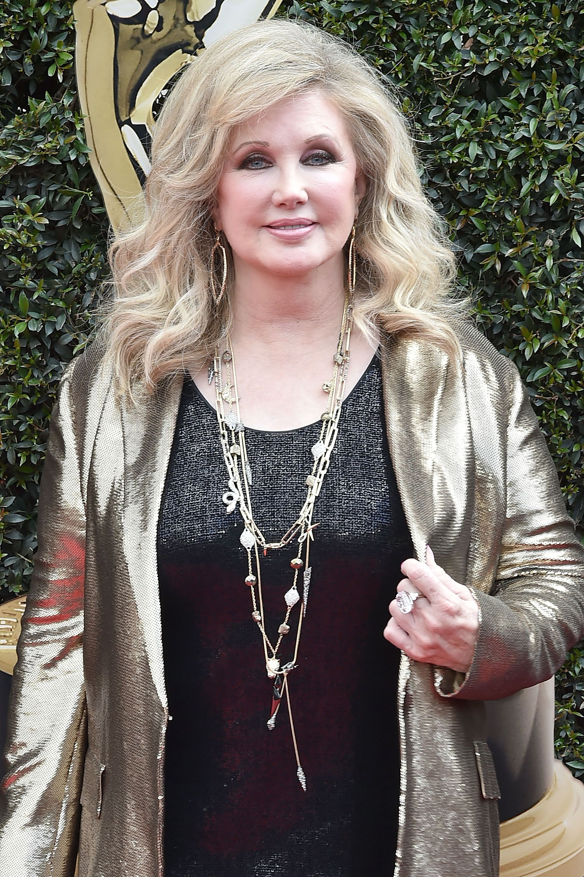 Morgan Fairchild attends the 2018 Daytime Emmy Awards Arrivals at Pasadena Civic Auditorium on April 29, 2018 in Pasadena, California. | Source: Getty Images