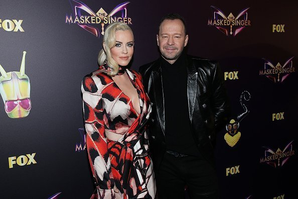 "Jenny McCarthy and Donnie Wahlberg attend Fox's ""The Masked Singer"" premiere Karaoke Event at The Peppermint Club on December 13, 2018 in Los Angeles, California 