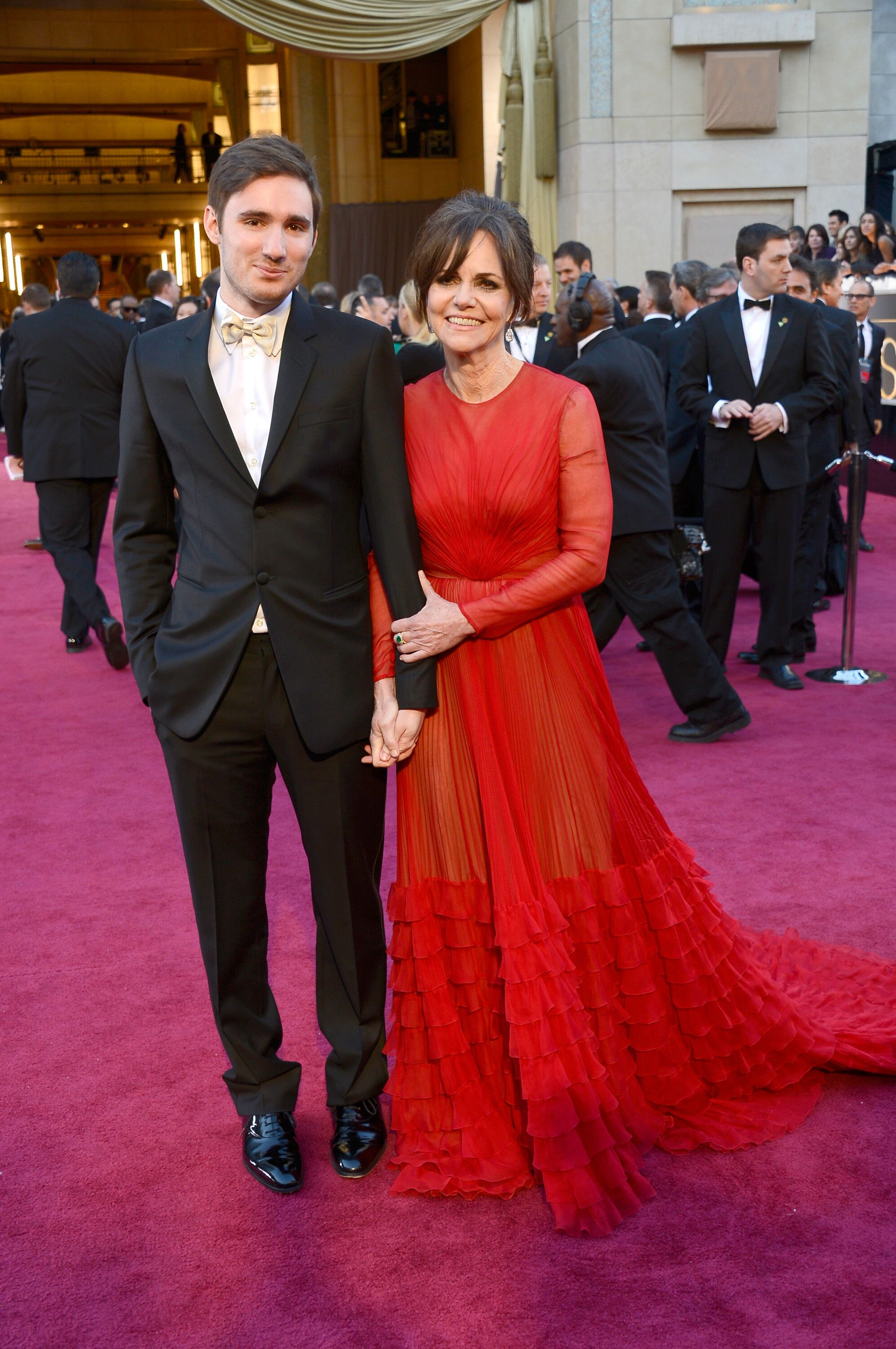 Sally Field and son Sam Greisman arrives at the Oscars at Hollywood & Highland Center.   Source: Getty Images