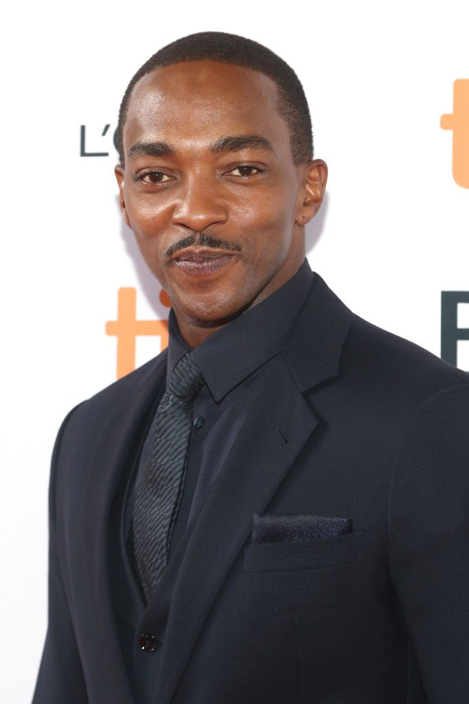 "Anthony Mackie attends the ""Seberg"" premiere during the 2019 Toronto International Film Festival at Ryerson Theatre 