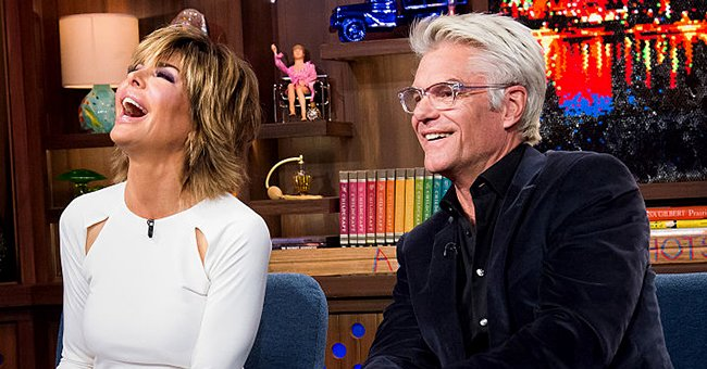 Lisa Rinna and Harry Hamlin on Watch What Happens Live Season 13, February 2016 | Source: Getty Images