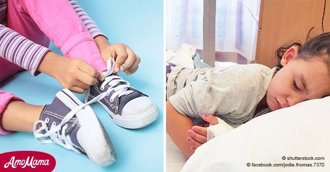 Une jeune fille de 4 ans a dû lutter pour sa vie après avoir contracté une septicémie mortelle en essayant de nouvelles chaussures