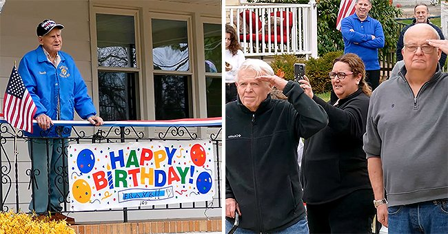 Neighbors Staged Birthday Parade for 100-Year-Old WWII Veteran Amid Social Distancing
